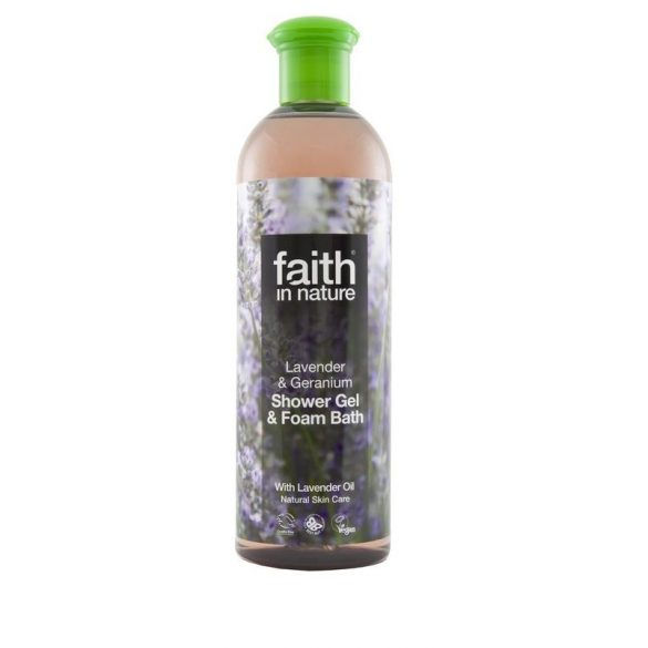 Faith in Nature - Levendula és geránium tusfürdő